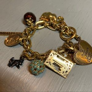 Juicy Couture Charm Bracelet Heart Dog Strawberry